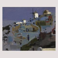 Ken Howard Windmills at Santorini