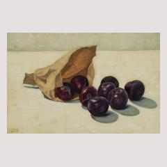 Plums and a Paper Bag