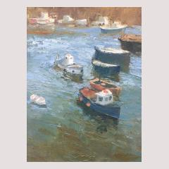 Neil Pinkett, Cornwall, Mousehole, Art, Gallery, Cape, Cornwall, Sennen, Oil, On, Board